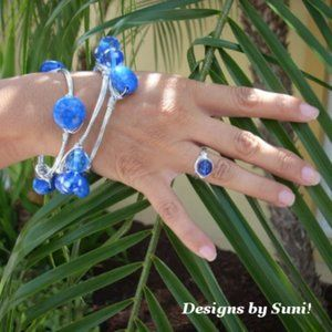 Designs by Suni Jewelry - 3 Beads & Bangle Bracelets, Wire Wrapped